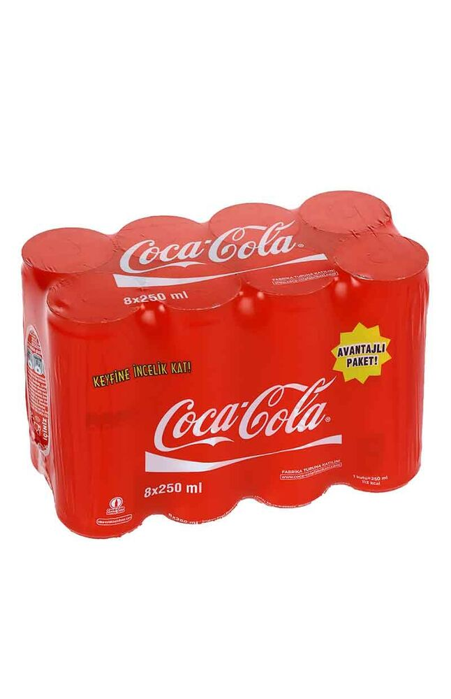 Coca Cola Kutu 8*250Ml