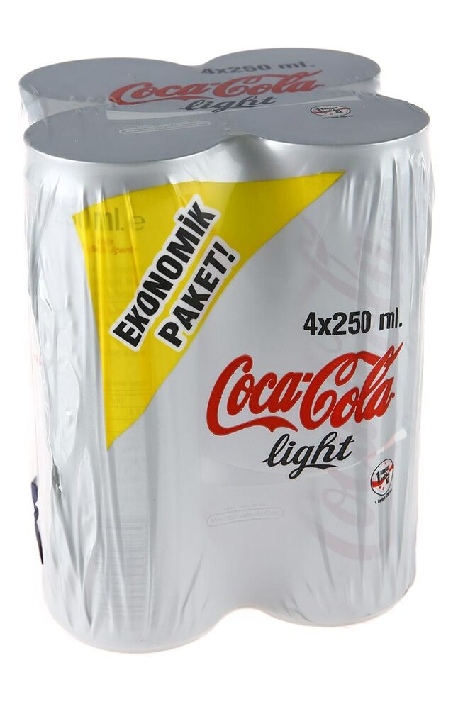 Coca Cola Lıght Kutu 4X250Ml