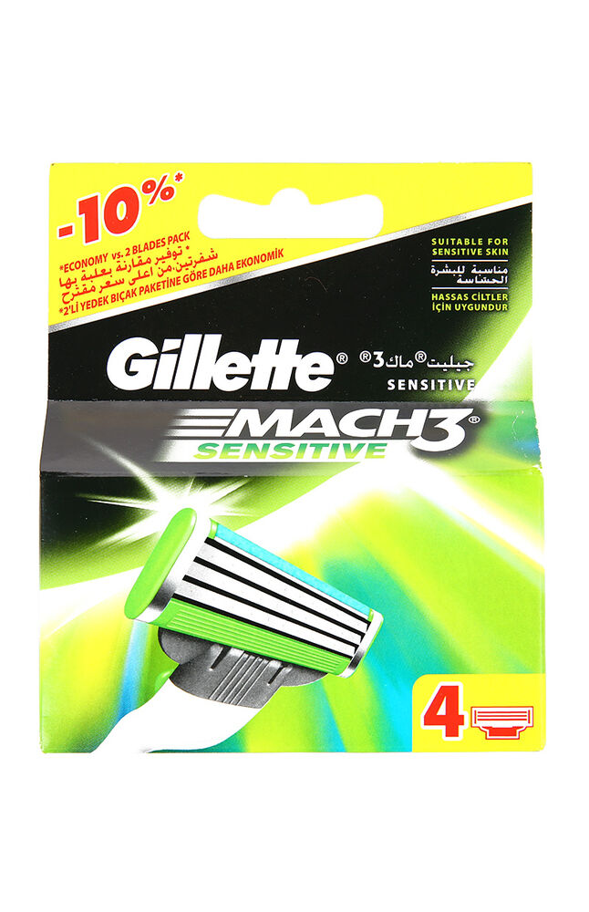 Gillette Mach3 Sensitive 4'Lü Bıçak