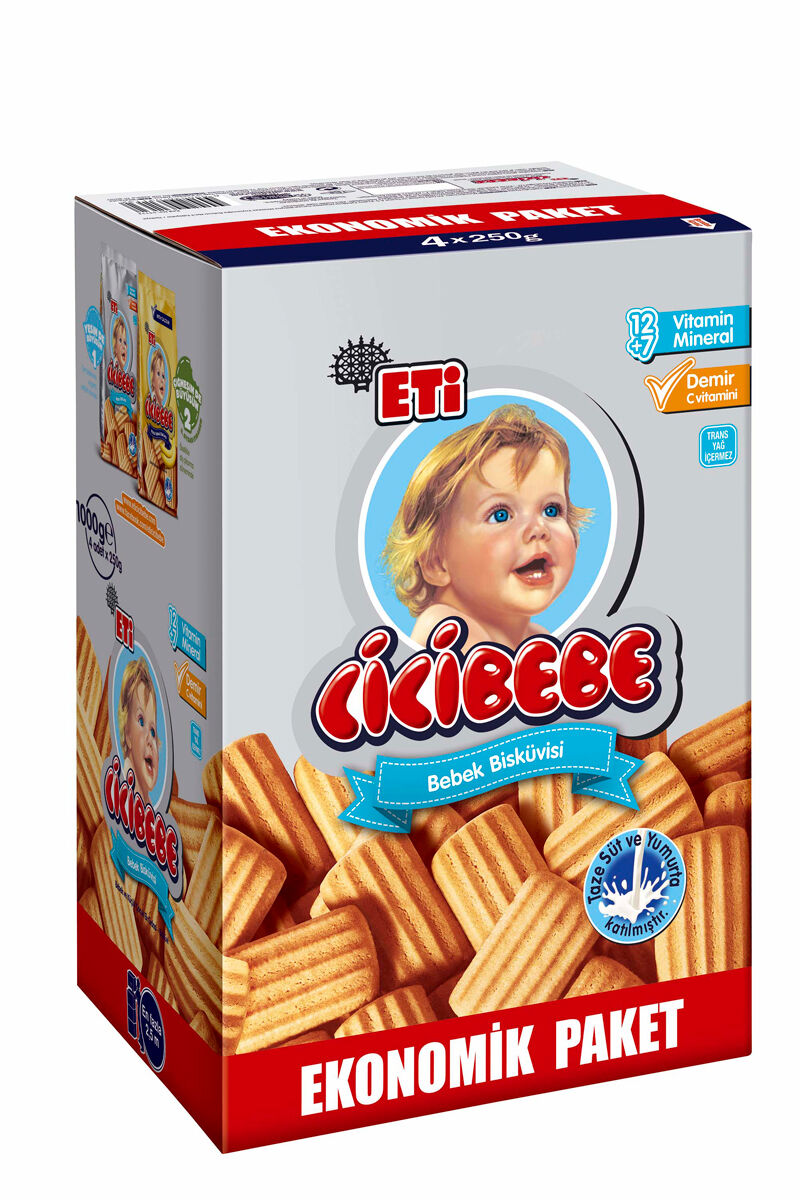 Image for Eti Cicibebe 1000 Gr ( 4X250 Gr ) from İzmir
