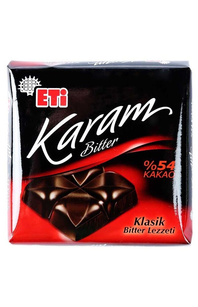 Image for Eti Karam Çikolata Bitter Kare 75 Gr from Antalya