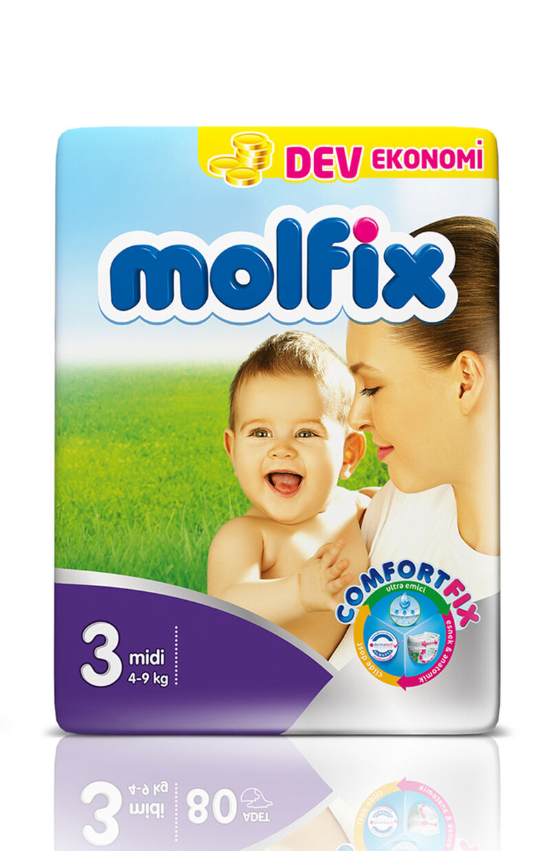 Image for Molfix Bebek Bezi Dev Eko Midi 4-9 Kg 72 Ped from Antalya