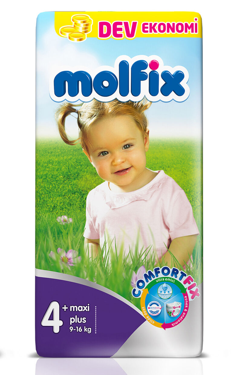 Image for Molfix Bebek Bezi Dev Eko Maxi Plus 9-16 Kg 52 Ped from Kocaeli
