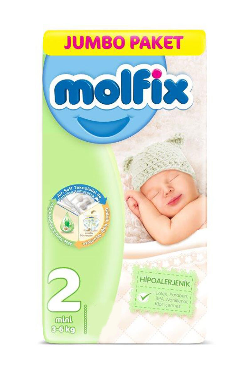 Image for Molfix Bebek Bezi Jumbo Mini (2) 3-6 Kg 78 Ped from Antalya