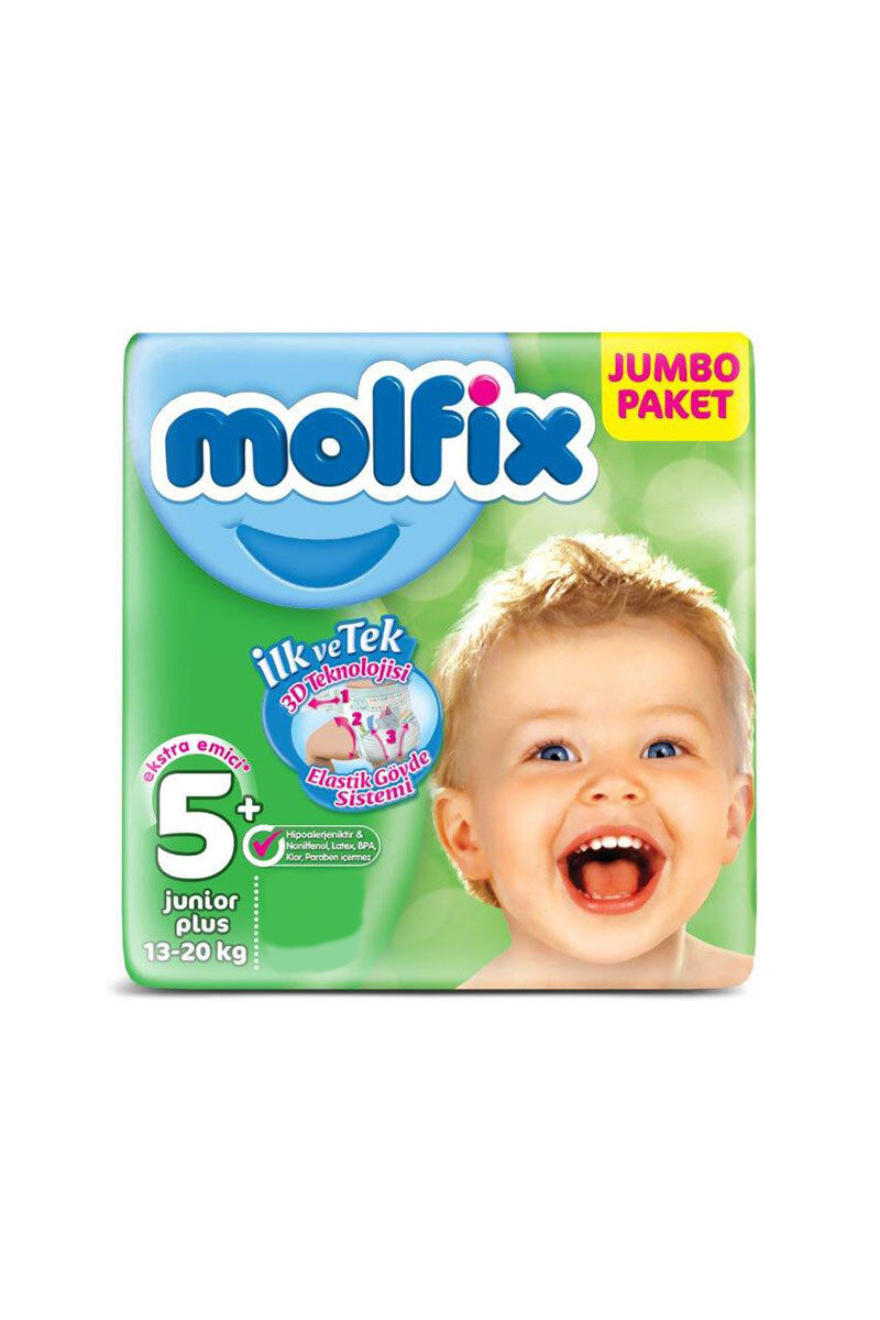 Image for Molfix Bebek Bezi Jumbo Junior Plus(5+) 13-20 Kg 30 Ped from Antalya