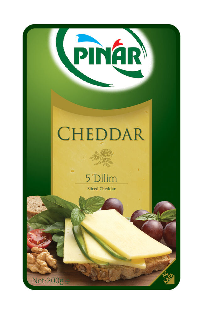 Image for Pınar Cheddar Dilimli Peynir 200 Gr from Bursa