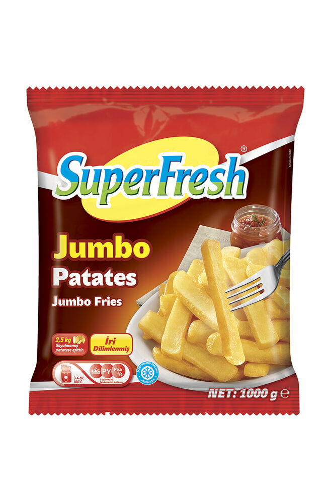 Image for Superfresh Patates Jumbo 1000 Gr from İzmir
