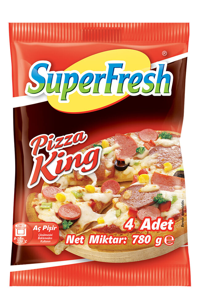 Image for Superfresh Pizza King 4'Lü 780Gr from Eskişehir