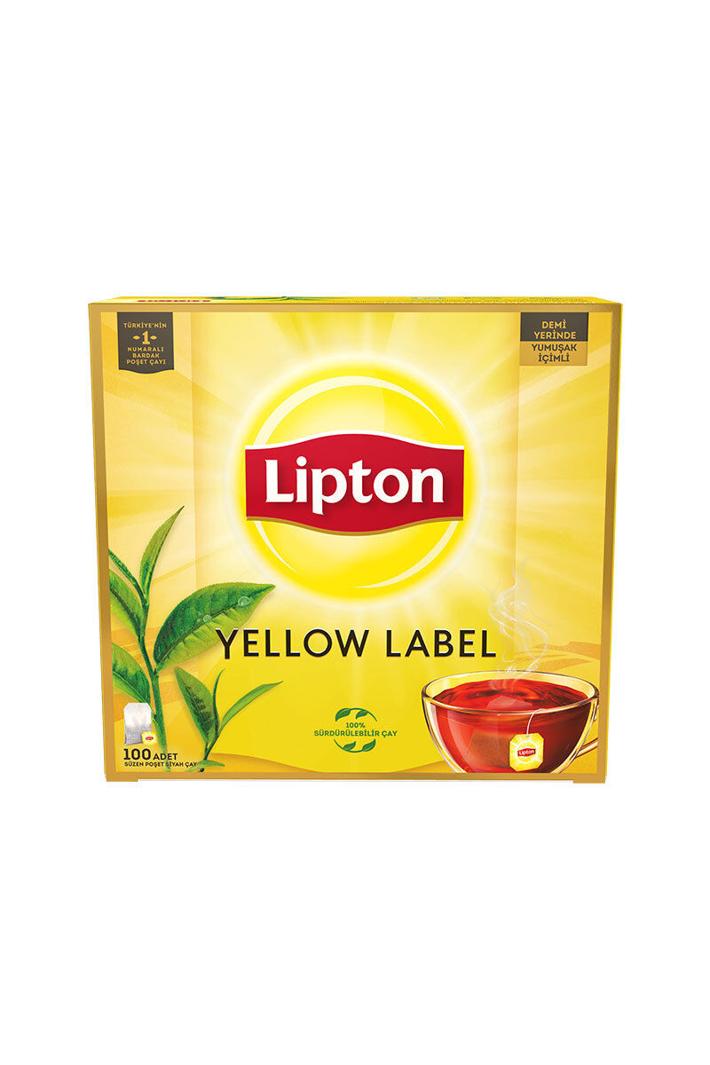 Image for Lipton Yellow Label Çay 100'lü Bardak Poşet from Bursa