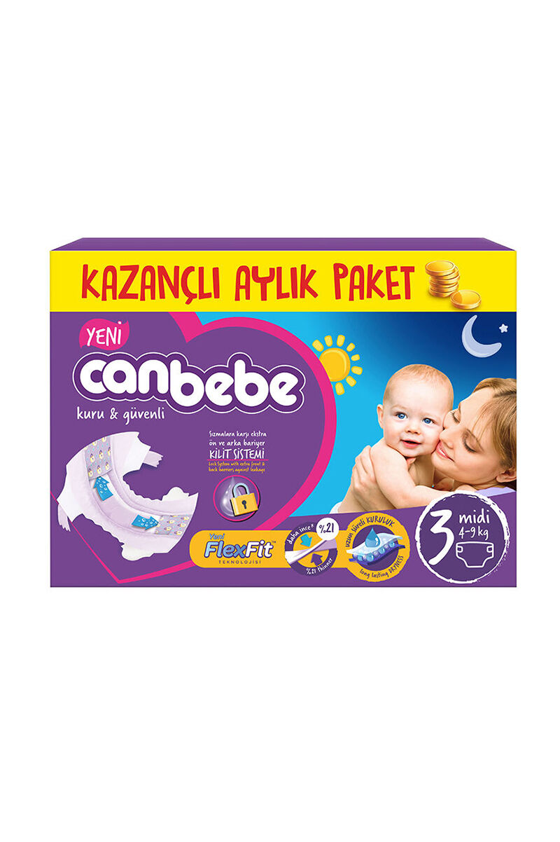 Image for Canbebe Aylık Paket Midi 3 (4-9 Kg) from Bursa