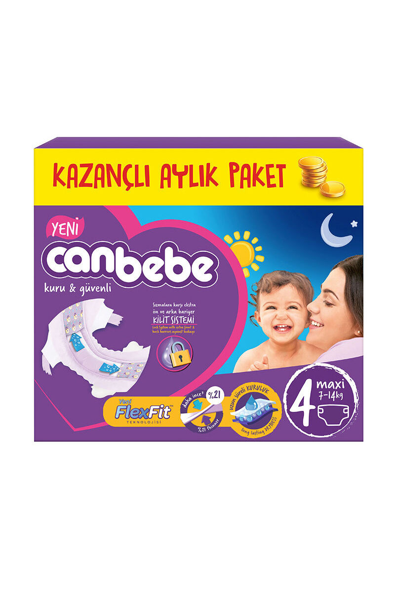 Image for Canbebe Aylık Paket Maxi 4 (7-14 Kg) from İzmir