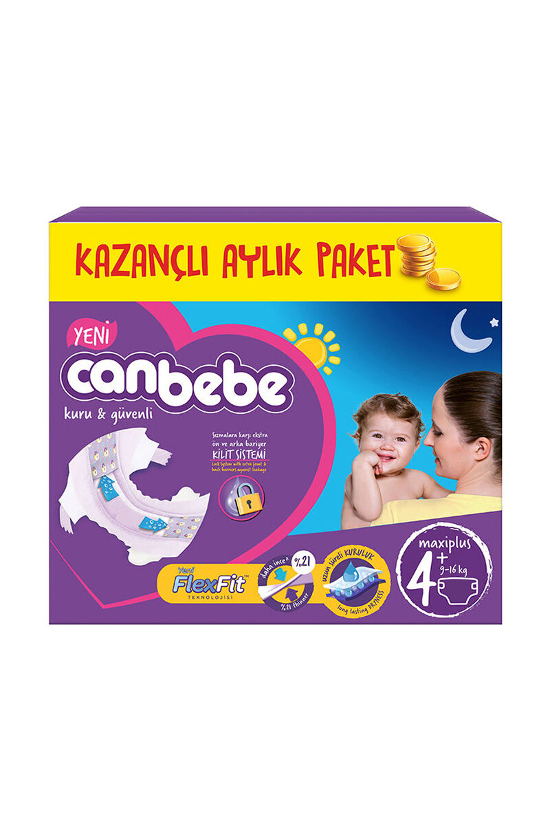 Image for Canbebe Aylık Paket Maxi Plus 4+ (9-16 Kg) 70 Ped from Antalya