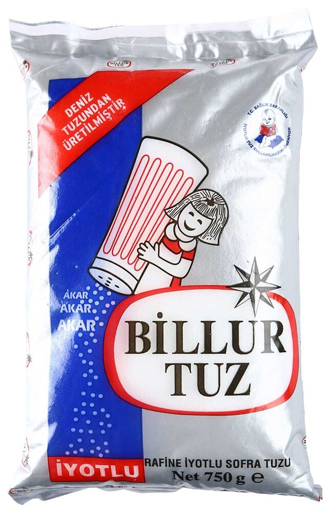 Image for Billur İyotlu Tuz 750 Gr (Deniz Tuzu) from Kocaeli