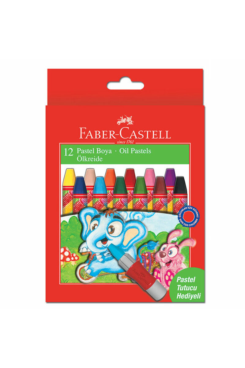 Image for Faber Castell Pastel 12 Renk (Pastel Tutucu Hed) from Kocaeli