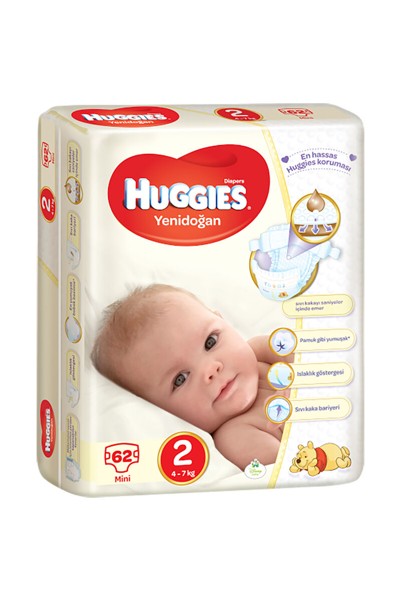 Image for Huggies Bebek Bezi Jumbo Mini (2) 4-7 Kg 62 Ped from İzmir