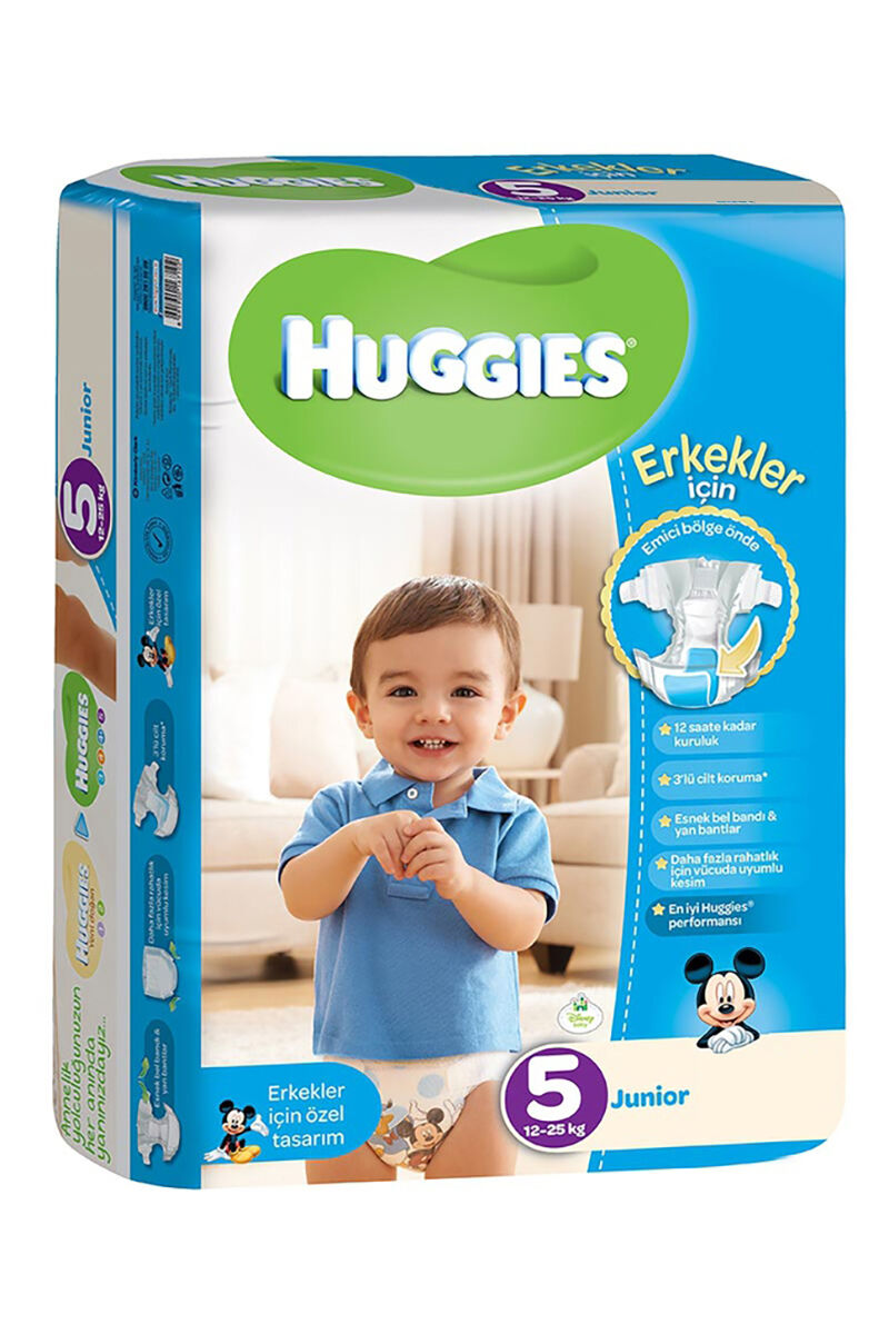 Image for Huggies Bebek Bezi Jumbo Junior Erkek (5) 12-25 Kg 32 Ped from Bursa