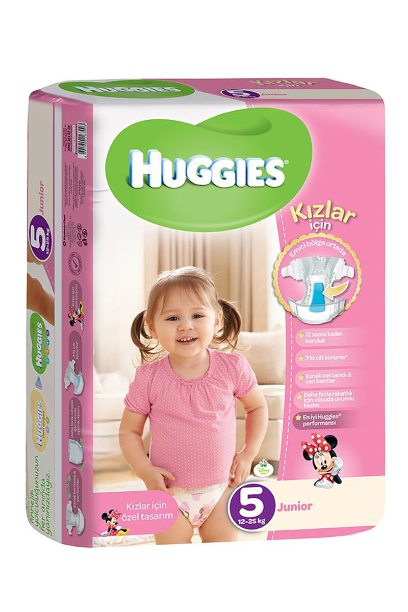 Image for Huggies Bebek Bezi Jumbo Junior Kız (5) 12-25 Kg 32 Ped from Bursa