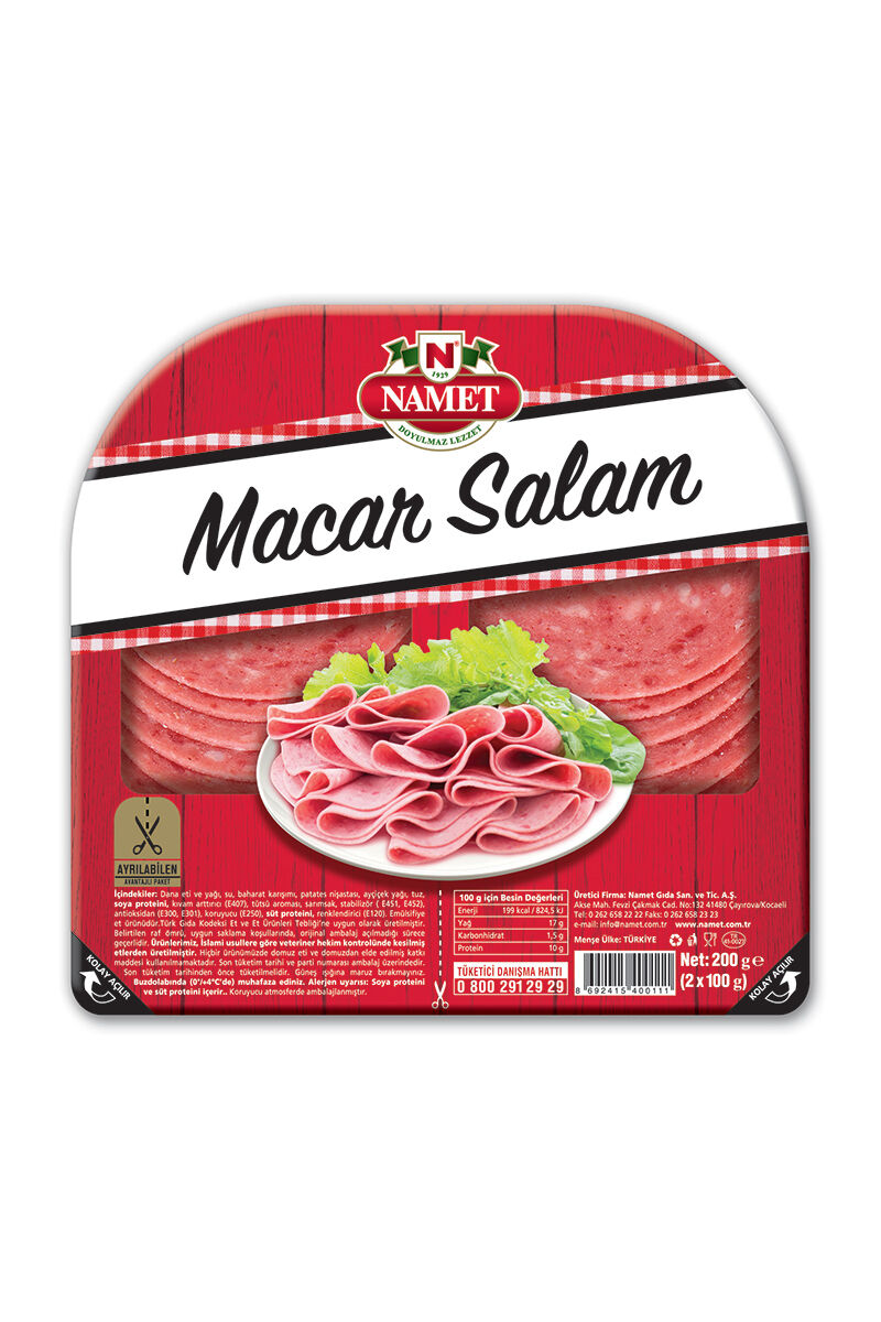 Image for Namet Dana Dilimli Macar Salam 200 Gr from Bursa