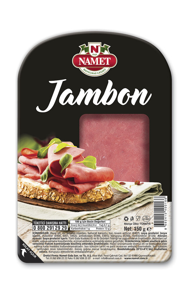 Image for Namet Dana Dilimli Jambon 150 Gr from Kocaeli