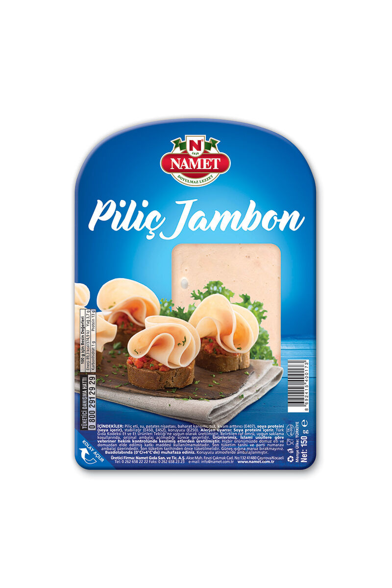 Image for Namet Piliç Dilimli Jambon 150 Gr Sade from Antalya