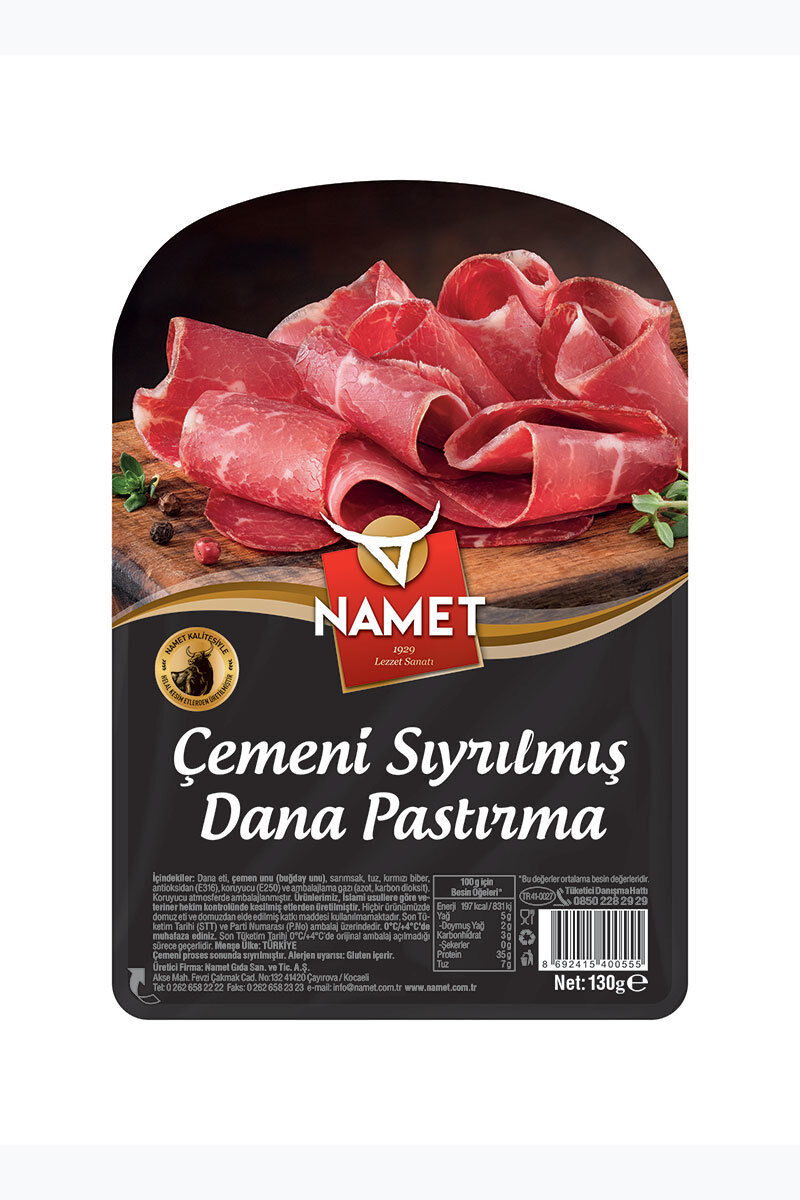 Image for Namet Dilimli Çemensiz Pastırma 130 Gr from Bursa