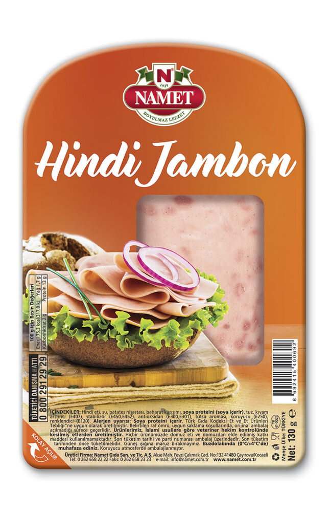 Image for Namet Hindi Dilimli Jambon 130 Gr Sade from İzmir