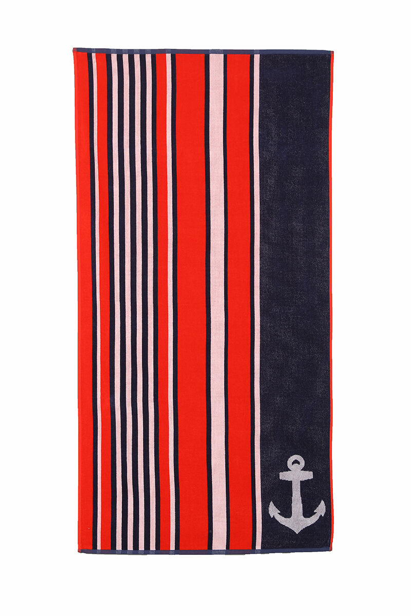 Image for Özdilek Summer Heat Stripe Anchor Plaj Havlusu from Özdilekteyim