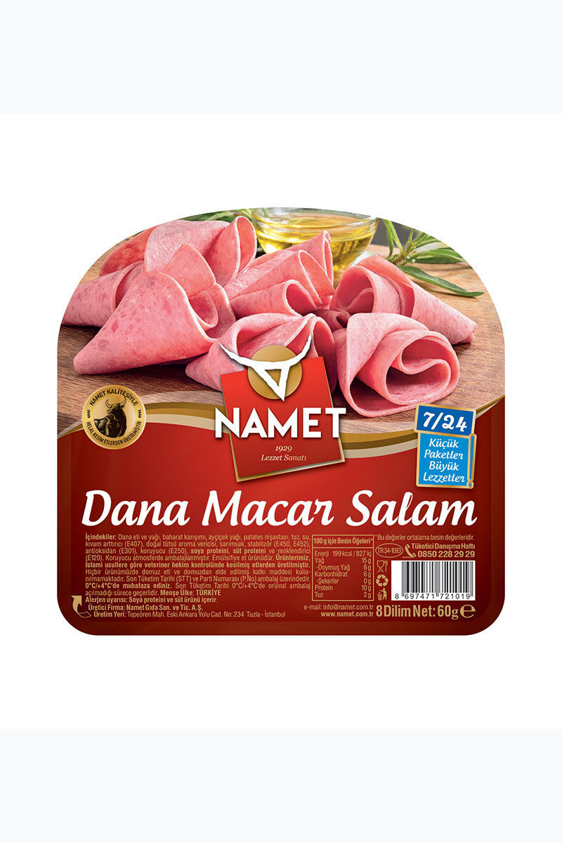 Image for Namet Dana Dilimli Macar Salam 60 Gr from İzmir