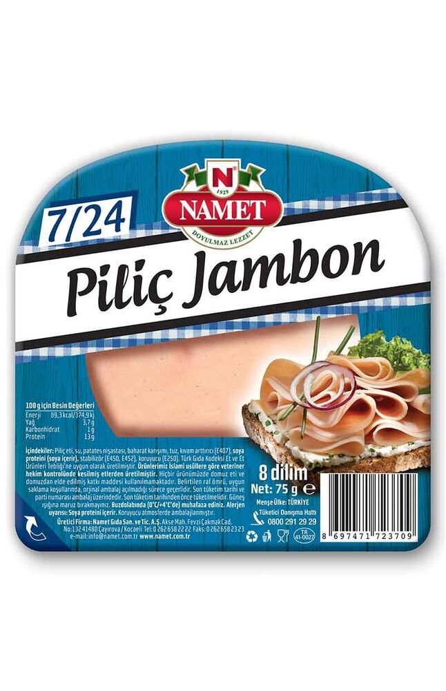 Image for Namet Piliç Dilimli Jambon 75 Gr from Bursa