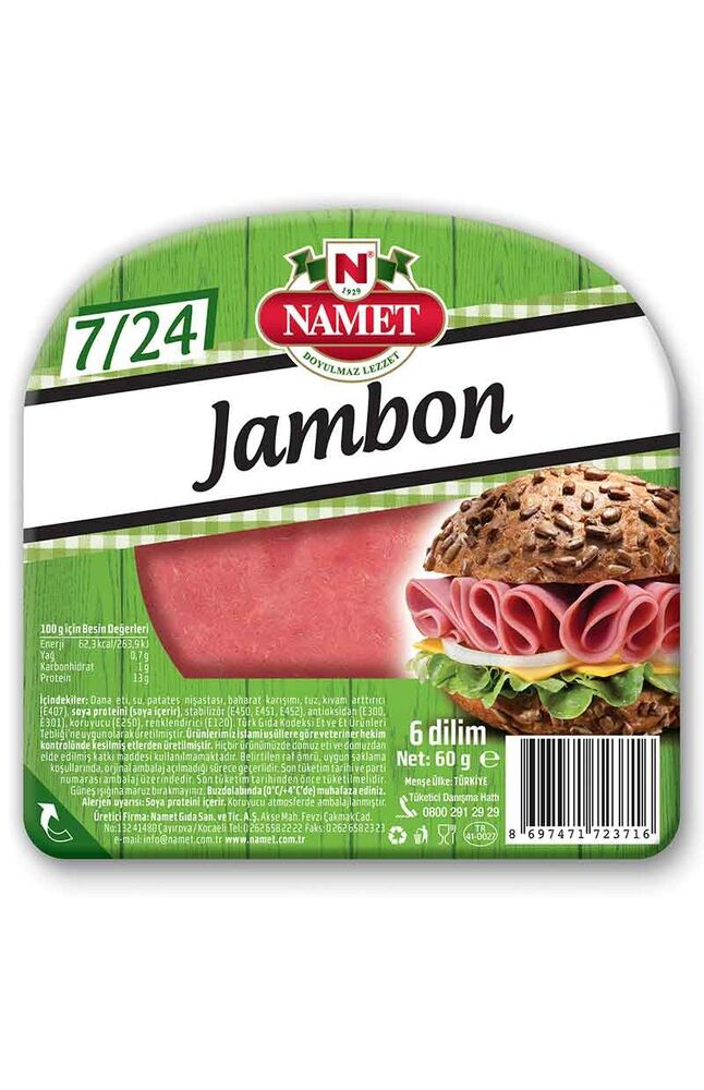 Image for Namet Dana Dilimli Jambon 60 Gr from İzmir