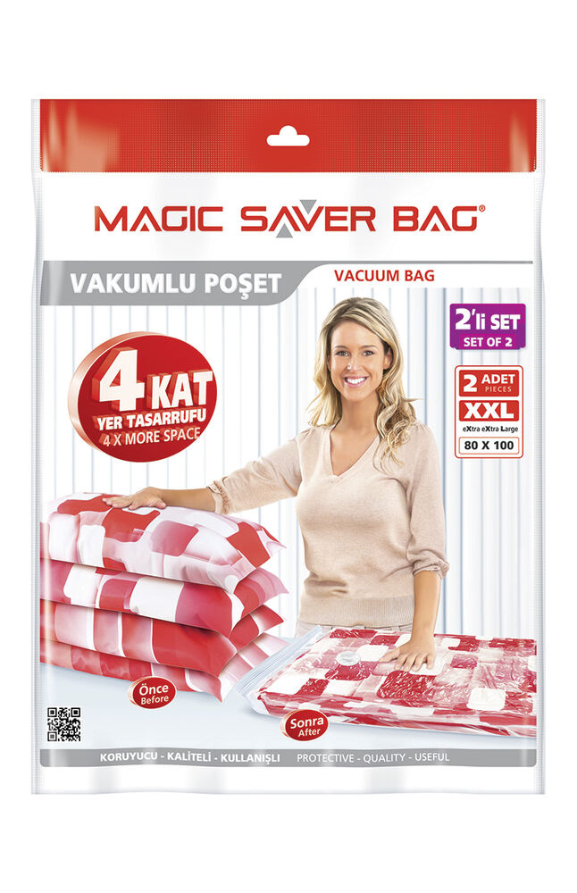 Magic Saver Vakumlu Saklama Poşeti 2Li 80X100