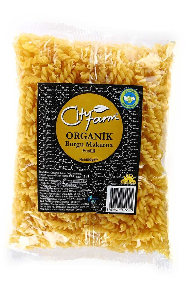 Image for City Farm Organik Burgu Makarna 500 Gr from Kocaeli