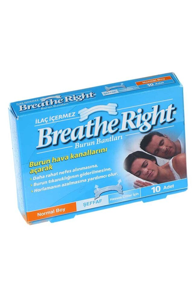 Breathe Rıght Burun Bandı Şeffaf Regular/Normal