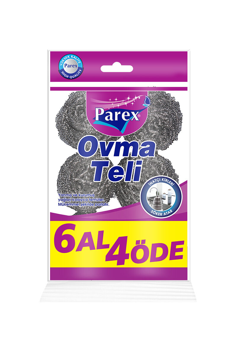 Parex Ovma Teli Trend 6 Lı + Double Power Sünger