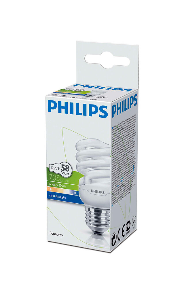 Image for Philips Ampul Twister 12W CDL E27 Beyaz Işık from Bursa