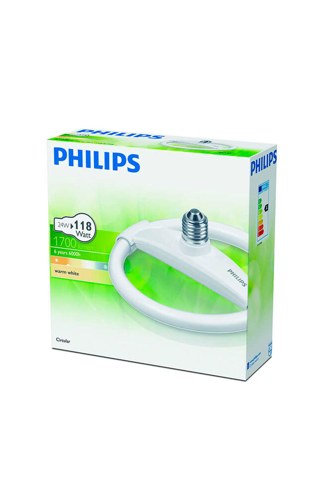 Philips Simit Ampul 24W WW E27 Sarı Işık
