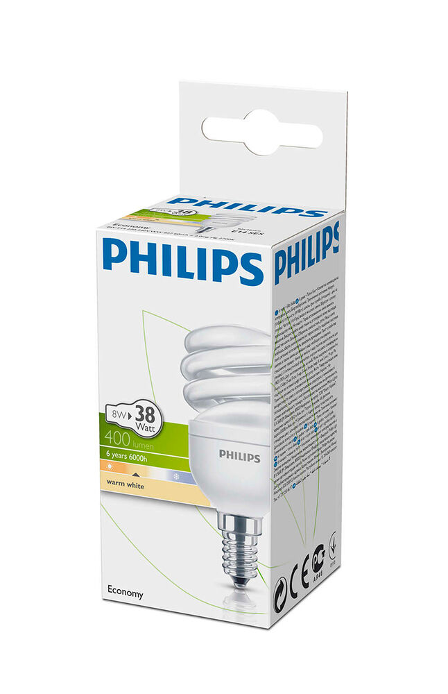 Image for Philips Ampul Twister 8W WW E14 Sarı Işık from Bursa