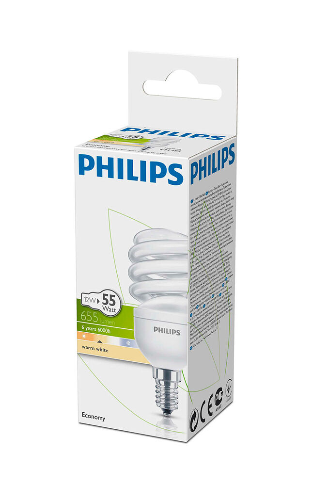 Image for Philips Ampul Twister 12W WW E14 Sarı Işık from İzmir