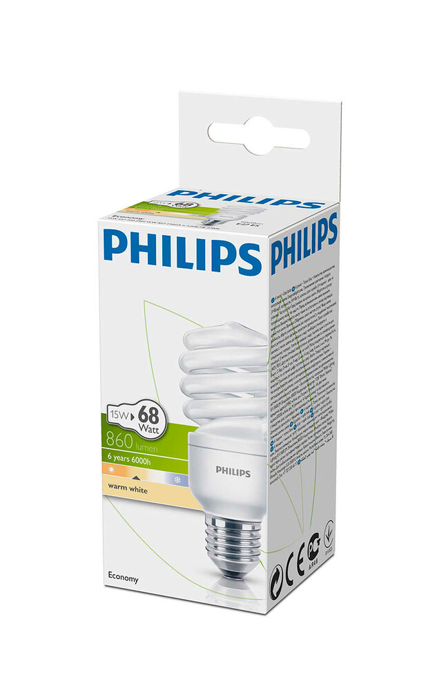 Philips Ampul Twister 15Watt WW E27 Duy Sarı Işık