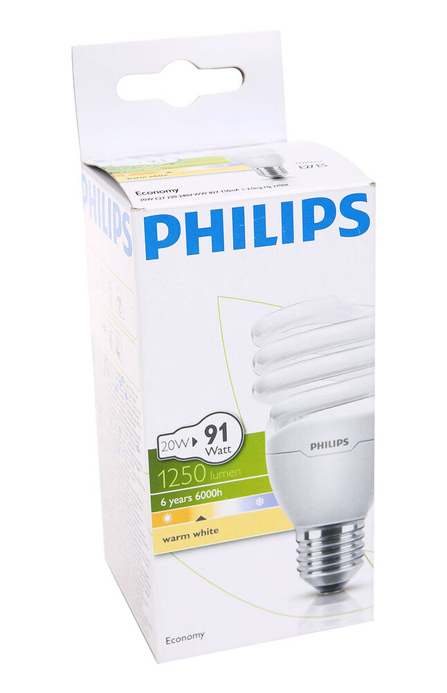 Philips Ampul Twister 20Watt WW E27 Duy Sarı Işık