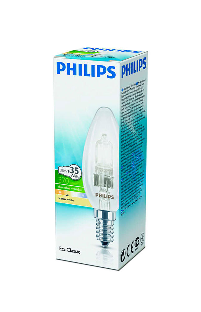 Image for Philips Halojen Mum Ampul 28W E14 B35 Sarı Işık from Antalya
