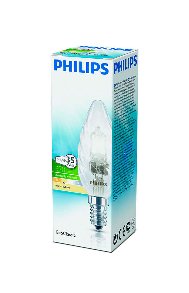 Image for Philips Halojen Mum Ampul 28W E14 BW35 Sarı Işık from Antalya